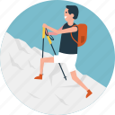 backpack, hiking activity, hiking equipment, hiking gear, mountain climbing icon