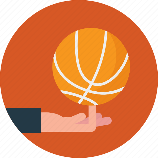 dribbling, outdoor activity, playing basketball, spinning ball, sports icon