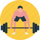 dumbells, strong participant, weight lifter, weight lifting, wrestler icon