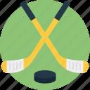 hockey equipment, hockey field, hockey peg, hockey sticks, outdoor sports icon
