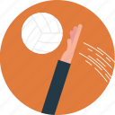 beach game, beach sports, outdoor sports, playing volleyball, volleyball icon