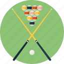 8 ball pool, billiard table, playing pool, pool sticks, pool table icon
