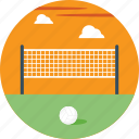 beach volleyball, indoor sports, outdoor sports, volleyball court, volleyball net icon