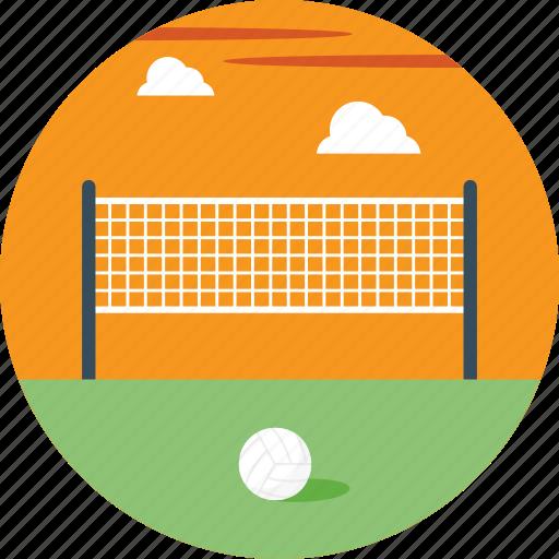 beach volleyball, indoor sports, outdoor sports, volleyball court, volleyball net icon