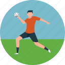 football field, football player, football practice, goalie, outdoor game icon