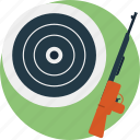 gun, outdoor sports, shooting game, target, target practice icon