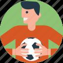 football, football player, soccer, soccer player, sports icon