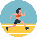 athlete, outdoor activity, running, sportsman, track runner icon
