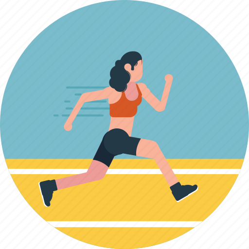 athlete, outdoor activity, running, sportsman, track runner icon