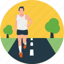morning walk, running, running exercise, sports, workout icon