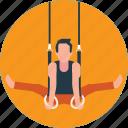 acrobatics, flexible, girl on rope, gymnastics, training icon