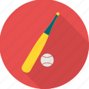 ball, baseball, bat, cricket, game, play, sports icon