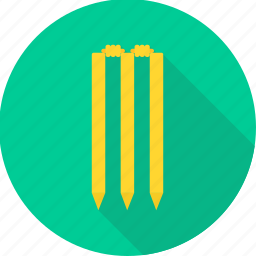 ball, bat, cricket, game, match, sports, wicket icon