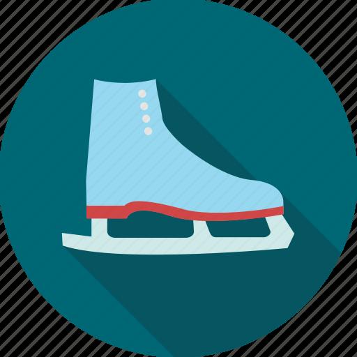 ice, shoe, skate, skates, skating, sports, walking icon