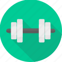 dumbbell, dumbel, exercise, gym, weight, weight lifting, weightlifting icon