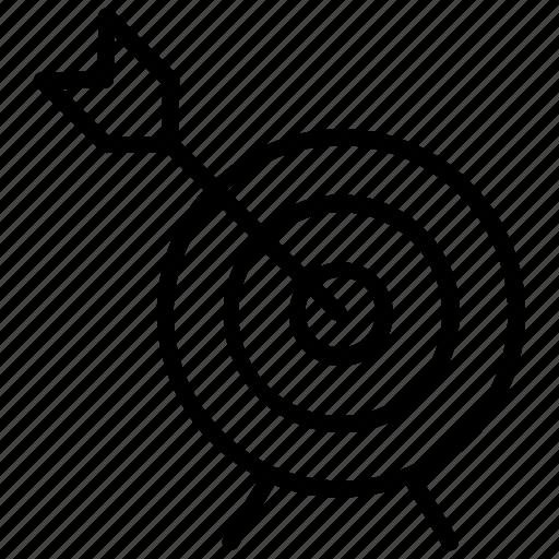 bullseye, dartboard, objective, sports, target board icon