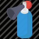 air horn, circus trumpet, clown blaster, clown horn, fan attribute, sports horn icon