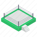 boxing field, boxing ring, fight game, wrestling field, wrestling ring icon