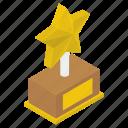 achievement, award, reward, star trophy, victory icon