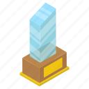 glass award, glass certificate, glass trophy, jade glass, winning glass icon