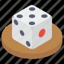 cube, dice, dice game, dice piece, probability dice icon