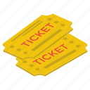 coupon, entry tickets, entry token, match ticket, movie ticket, tickets icon