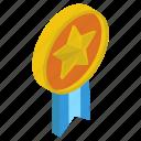 award, champion, medal, military medal, prize, star badge, winner