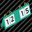 game score, score counts, scorecards, sports board, sports score