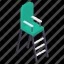 high chair, referee chair, sports chair, sports furniture, tennis chair icon
