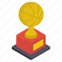 achievement, award, basketball trophy, reward, sports award, victory icon