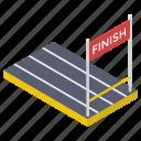 ending point, finish line, finish race, finishing line, goal, terminating line icon