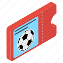coupon, entry tickets, entry token, football tickets, match ticket icon