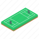 cricket area, cricket field, cricket pitch, play area, playground icon