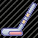golf, golf stick, hockey stick, sports accessory, sports equipment icon
