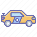 car, conveyance, taxi, transport, travel, vehicle icon