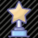 achievement, award, reward, star trophy, triumph, victory icon