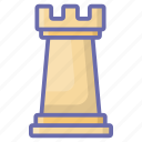 business strategy, chess guard, chess knight, chess piece, chess tower icon