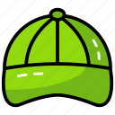 cap, cricket cap, fashion cap, head protection, sports hat icon