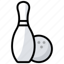 alley pins, bowling ball, bowling game, bowling pins, game, hitting pins, sports icon