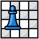chess board, chess game, chess piece, rook pawn, sports icon