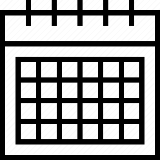 calendar, date, schedule, time, timetable, year icon