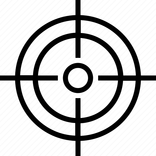 aim, focus, objective, sniper target, target icon