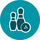bowling, fun, game, hit, movement, sport, strike icon