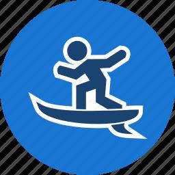 surf, surf board, surfer, surfing icon