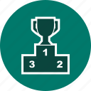 podium, sports, winner, winners icon