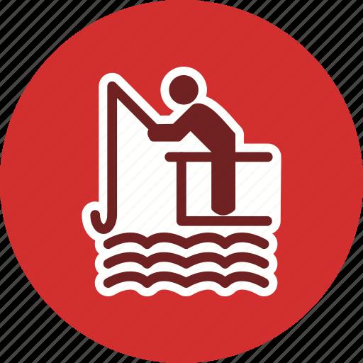 boat, fishing, lake, lure, mansport, river, water icon