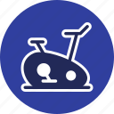 cycle ergometer, exercise bike, fitness icon