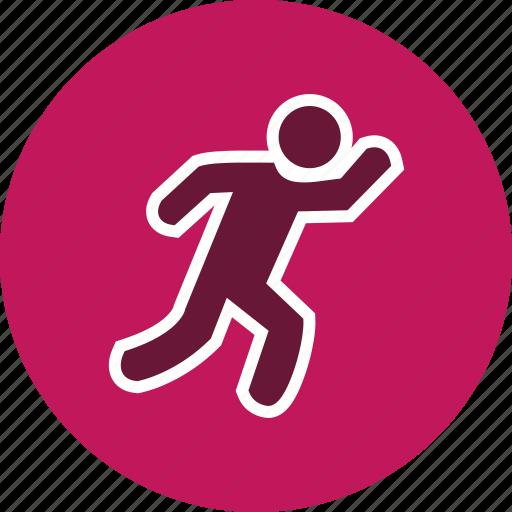 athlete, runner, running icon