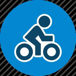 cycle, cycling, cyclist, triathlon icon
