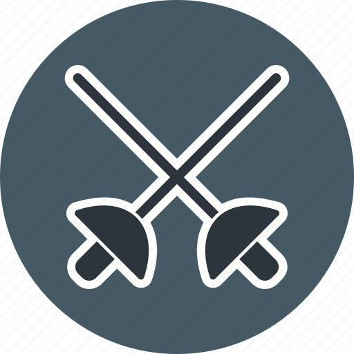 fencing, fight, game, medieval, rapier, stick icon